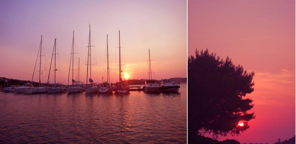 Zalazak sunca u marini Piškera. Foto: Josip Novosel, Flash.hr