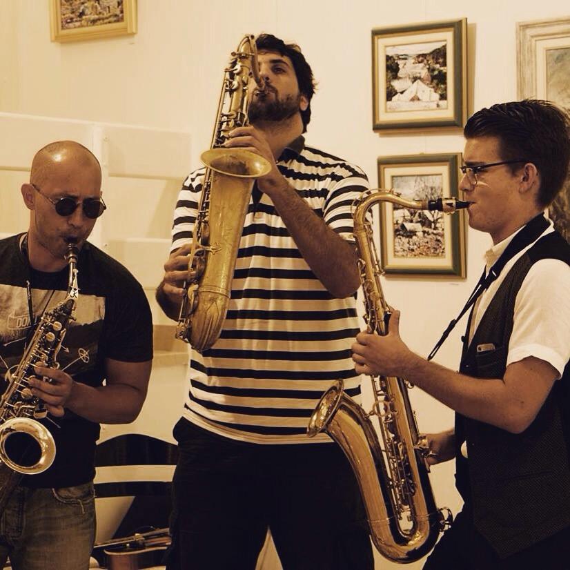 International Summer Music School Pucisca - Bol - otok Brač - Josip, Bojan i Bruno. Foto: Sara Ester