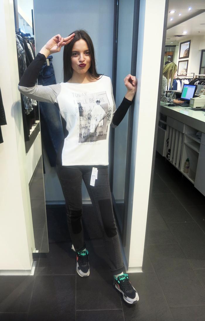 Boutique Bandolera - traperice i majica, Model: Irena Jakičić Foto: Josip Novosel, Flash.hr