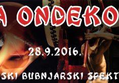 "Japanska bubnjarska atrakcija ""Za Ondekoza"" 28. rujna u Lisinskom!"