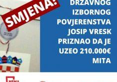 Koalicija Nema prodaje zahtjeva hitnu smjenu korumpiranog člana DIP-a koji je primio 210.000 eura mita u aferi Hypo!