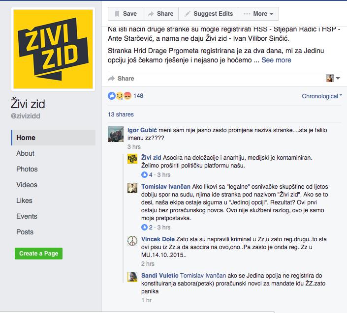 Screen Shot Živi Zid