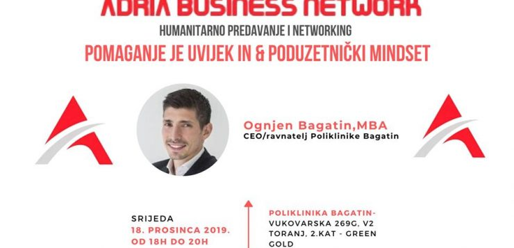 Treći Adria Business Network 18.12. u 18h poliklinika Bagatin