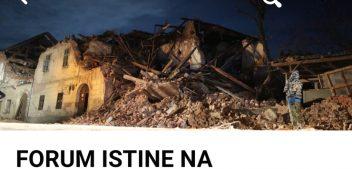 """MOST koristi stradale u Petrinji preko grupe """"FORUM ISTINE NA BANOVINI"""" za svoju predizbornu kampanju!?"""